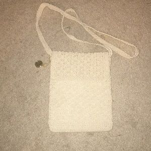 Handbags - 💸 Cream Stitched Purse